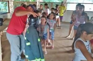 Palestra com o corpo de bombeiros